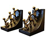 TYUIO Moderne L-Form Schwarz Dekorative Bookends