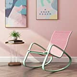 Xiao Lazy Chair Schaukelstuhl für Erwachsene Balkon Liege Lazy Siesta Lounge Chair Humanized Design (Color : Pink)
