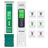 Homkity pH Messegerät, pH/TDS/EC/Temperatur 2 in 1 Set, pH Tester Pool, Wasserqualität...