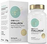 Hyaluronsäure Kapseln hochdosiert mit 500 mg pro Kapsel - 90 vegane Hyaluron Kapseln im 3...