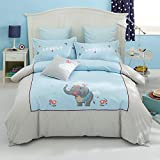 yaonuli Children's Cotton Four-Piece Cartoon Cotton Student Dormitory Sheets Quilt Cover Shame Like Bed 1.5M-1.8M