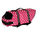 Bongles Dogs' Jacket with Rescue Handle and Reflective Trim Adjustable Pet Swim Vest for Small Medium and Large Dogs
