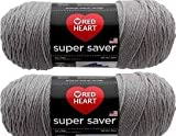 Bulk Buy: Rot Herz Super Saver (2er Pack) 7 oz each skein Dusty Grey