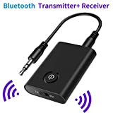SOOTEWAY Bluetooth Adapter Audio 5.0 Transmitter Empfänger 2 in 1 Sender/Receiver Adapter mit 3,5mm Audio Kabel für Kopfhörer HiFi Lautsprecher Radio Auto TV PC Laptop Tablet MP3 /MP4