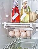 AIKZIK kühlschrank Schubladen, Einstellbare Lagerregal Kühlschrankschubladen Partition...