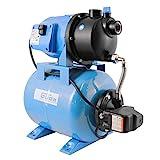 Güde 94667 HWW 3100 K Hauswasserwerk (600W Motorleistung, 3100 l/h Fördervolumen, 24l...
