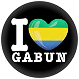 FanShirts4u Button/Badge/Pin - I Love GABUN Fahne Flagge (I LOVE GABUN)