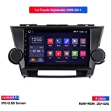 XMZWD 9 Zoll Auto GPS Navigation Android 8.1 Auto Multimedia- Player, Für Toyota Highlander, Mit Ultradünnen 1080P/ Fm Radio/WiFi/Bluetooth Freisprecheinrichtung/Lenkradsteuerung