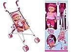 TopgadgetsUK Baby Dolly Mädchen Jungen Spielzeug Baby Deluxe Puppen Buggy Kinderwagen...
