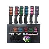 Nicejoy Haarkreide in 6 Farben, ungiftig, waschbar, Kamm für Haarfarbe, lebendige helle...
