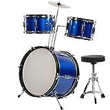 16Inch Trommel Frühpädagogisches Jazz-Drum-Set Jazz-Drum-Kit mit Hocker und Drumsticks...