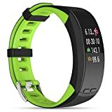Smart-Armbänder for P5 0,96 Zoll Farb-Touch-Screen-Display Bluetooth GPS Outdoor Sport Professionellen Smart-Armband, IP56 wasserdicht, Unterstützung Pedometer/Echtzeit-Herzfrequenzmesser/Baromete