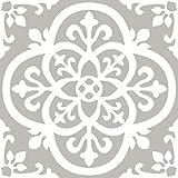 FloorPops FP2942 Medina Peel & Stick Floor Tiles Bodenfliese, grau