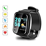 Sonkir Smartwatch mit 1.3' Colored Touchscreen, Pulsmesser, wasserdichtem IP67-Fitness-Tracker-Pedometer-Armband, kompatibel mit iPhone, Samsung, Huawei, Nexus, Android, iOS-Handys