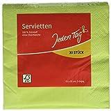 Jeden Tag Serviette uni, apfelgrün, 30 Stück, 150 g