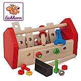Eichhorn 100028103 - Werkzeugkasten 11x22x12cm, inkl. Werkzeug, Schrauben und Bauelementen, 30-tlg.,...