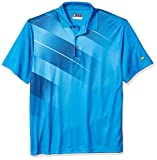 Jack Nicklaus Herren Asymmetrical Printed Short Sleeve Polo Golf-T-Shirt, Dunkel Wasserfarben, Groß