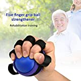 YSHTAN Handtrainer Ball Ball Sport Grip Ball Fitness Sport Hand Gripper Ball Exerciser Krafttraining Gym Finger Trainer – Blau