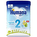 Humana Folgemilch 2, Babynahrung im Anschluss an das Stillen, nach dem 6. Monat, Pulver,...
