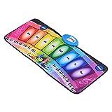 Leeofty 80 * 35cm Elektronische Musikmatte Rainbow Piano Keyboard Teppichmusik Spielmatte...