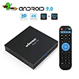 Winnovo 4K Android 9.0 TV Box, Magic 3rd Ultra HD 4GB RAM 32GB ROM Smart TV Streaming Player ARM 64 Bits Quad Core Processor, unterstützt Bluetooth 4.0/ H.265/ WiFi/ USB/ HDMI/ Netflix …