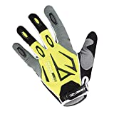 GIST GANTS Velo Adulte Long Shield VTT Jaune Fluo-GRIS-Noir L (PAIRE)
