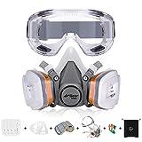 AirGearPro Atemschutzmaske mit Filter, Gasmaske Staubfilter und Schutzbrille für...