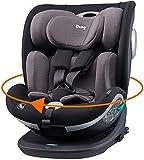 Ding Mace Kindersitz i-Size 0-36 kg inklusive Isofix-Basis, 360 Grad drehbar, schwarz/grau...