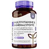 Multivitamine & Mineralien - 365 vegane, hochdosierte Tabletten - Jahresvorrat - getestet...