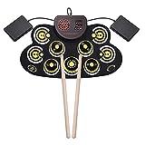 n.g. Tägliche Ausrüstung E-Drum-Set Tragbare Roll Up Drum 9 Sensitive Practice Pad...