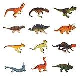Yideng 12 PCS Mini Dinosaurier Spielzeug Set, Realistische Pädagogische Kunststoff...