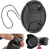 Objektivdeckel, Ø 52 mm Durchmesser, Snap On Schutzdeckel, kompatibel mit Nikon, Canon,...