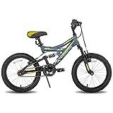 JOYSTAR Contender 20 Zoll Full Dual-Suspension Mountainbike für Kinder mit 15...