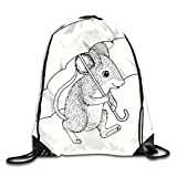 Haloxa MOUSE Drawstring Backpacks Sport Leisure Bundle Backpack Beam Backpack Sport Gym Travelling Bag