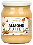 Mandelbutter – Premium Mandelmus – Wehle Sports Almond Butter natürliches Nussmus veganer/ vegetarischer Brotaufstrich für Smoothies, Backen, Snack (500g (Smooth))