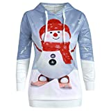 Auifor Mens 3D Printed Weihnachten Pullover Langarm Kapuzenpullover Tops Bluse