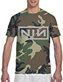 N-I-N Logo T-Shirt Men's 3D Camouflage Print Top XL