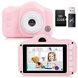 YUNKE Kinderkamera, Kamera für Kinder, Digitale Kinderkameras mit 3,5-Zoll-Bildschirm 8,0...