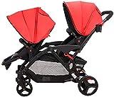 TGFVGHB Baby-Kinderwagen, Buggy, Leicht Connect Tandem Kinderwagen Zwillings-Kinderwagen...