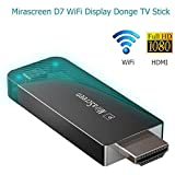 MCLseller Drahtloser Display Empfänger, WiFi Display Dongle, Full HD 1080P 5G + 2.4G TV Stick, HDMI Adapter für IOS/Android/Mac