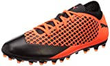 Puma Unisex-Kinder Future 2.4 MG JR Fußballschuhe, Schwarz Black-Shocking Orange 02, 37.5 EU