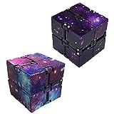 Nuryme Zappel Cube, Infinity Cube Galaxy Mini ABS Finger Spielzeug Angstentlastung...