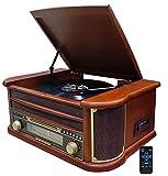 Nostalgie Holz Musikanlage   Bluetooth   Kassettendeck   Kompaktanlage   Retro...