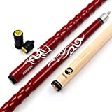 CUESOUL 58' Billardqueues 21oz Pool Queue Personalisiert Ahorn Pool Cue Stick 13mm tips Very Nice Grip with Joint Protector/Shaft(CSPC-HL101)
