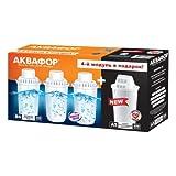 AQUAPHOR 4X Wasserfilterkartusche (3X B100-6 für hartes Wasser Plus 1x A5 Magnesium)....