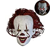 Neborn Joker Pennywise Maske Stephen König Es Kapitel Zwei 2 Horror Cosplay Latex Masken Helm Clown Halloween Party Kostüm Prop
