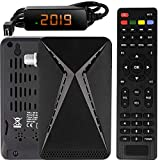 Echosat OM-26100 Mini Sat Receiver -DVB S/S2 Satelliten Receiver Full HD 1080 P HDMI 2 x USB 2.0 HDTV [Digital Satelliten Receiver] {Astra Hotbird Türksat }-Schwarz