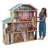 KidKraft 65252 Puppenhaus Majestic Mansion aus Holz mit Möbeln und Zubehör, Spielset mit...