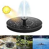 Infankey Solar Springbrunnen für Miniteich 1,4 W Solar Teichpumpe mit 4 Stützstangen und...