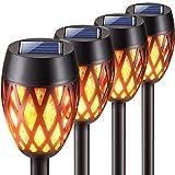 KOOPER Solarlampen für Außen Garten, 4 Stück Upgrade Garten Solarleuchten mit...